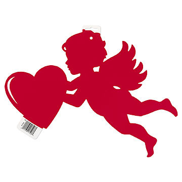 Click For Larger Picture Of RED CUPID CUTOUT PRINT 2 SIDES (12/CS)