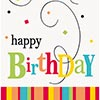 BIRTHDAY CONFETTI GUEST NAPKIN (168/CS) PARTY SUPPLIES