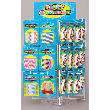 Click For Larger Picture Of BIRTHDAY CANDLE SPINNER DISP 1 CS PARTY SUPPLIES