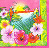 LUAU BEVERAGE NAPKINS (192/CS) PARTY SUPPLIES