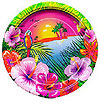 LUAU 7'' PAPER PLATES (96/CS) PARTY SUPPLIES