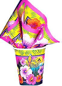 Click for larger picture of LUAU 9OZ CUPS (96/CS) PARTY SUPPLIES
