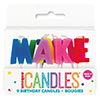 RAINBOW MAKE A WISH CANDLE (12/CS) PARTY SUPPLIES