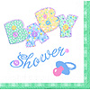 DISCONTINUED BABY STITCH LUNCHEON NAPKIN PARTY SUPPLIES
