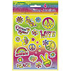 DISCONTINUED TYE-DYE SWIRL STICKER PARTY SUPPLIES