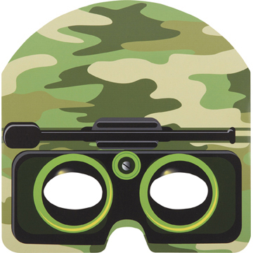 DISCONTINUED CAMO MASKS PARTY SUPPLIES