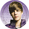 DISCONTINUED JUSTIN BIEBER DESSERT PLATE PARTY SUPPLIES