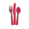 RED CUTLERY ASSORTMENT (216/CS) PARTY SUPPLIES