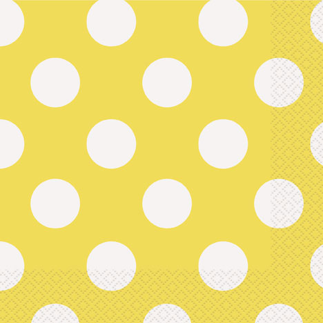 Click for larger picture of SUN YELLOW DOTS LUNCH NAPKINS (192/CS) PARTY SUPPLIES