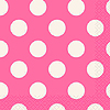 HOT PINK DOTS BEVERAGE NAPKIN PARTY SUPPLIES
