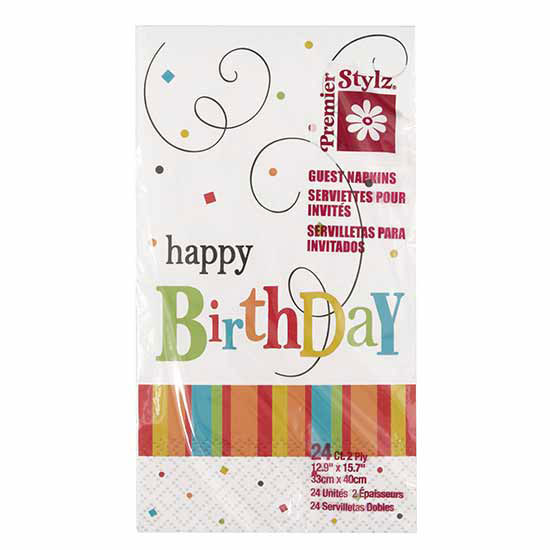 BIRTHDAY CONFETTI GUEST NAPKINS (144/CS) PARTY SUPPLIES