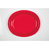 RED OVAL PLATTER (96/CS) PARTY SUPPLIES