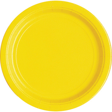 Click for larger picture of YELLOW 7'' PLATES (240/CS) PARTY SUPPLIES