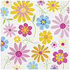 BRIGHT BLOOMS BEVERAGE NAPKIN (288/CS) PARTY SUPPLIES