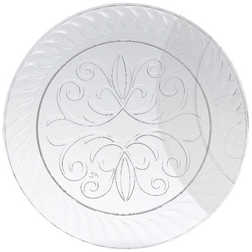 Click for larger picture of 7u0027u0027 CLEAR PLASTIC PLATES (60/CS)  sc 1 st  Party Supplies : plastic plates bulk cheap - pezcame.com