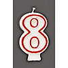 NUMBER CANDLE #8 (6/CS) PARTY SUPPLIES