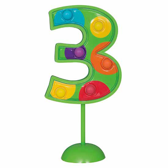 3 FLASHING NUMBER (6/CS) PARTY SUPPLIES