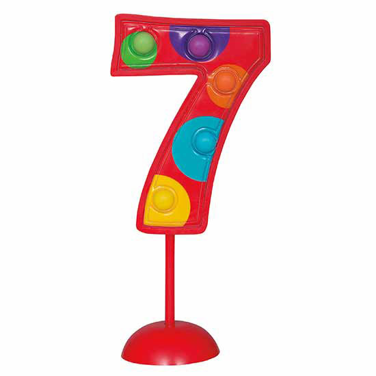 7 FLASHING NUMBER (6/CS) PARTY SUPPLIES