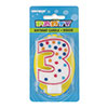 POLKA DOT NUMBER CANDLE #3(6/CS) PARTY SUPPLIES