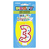 #3 GLITTR CANDLE (6/CS) PARTY SUPPLIES