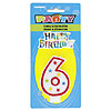 #6 GLITTR CANDLE (6/CS) PARTY SUPPLIES