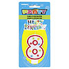 #8 GLITTR CANDLE (6/CS) PARTY SUPPLIES