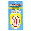 #0 GLITTR CANDLE (6/CS) PARTY SUPPLIES