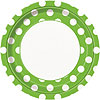 LIME GREEN DOTS DINNER PLATE PARTY SUPPLIES