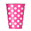 HOT PINK DOTS 12OZ CUPS PARTY SUPPLIES