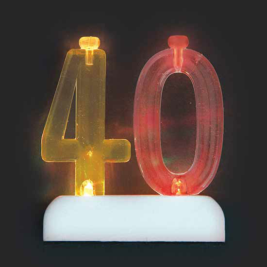40TH CANDLE (6/CS) PARTY SUPPLIES