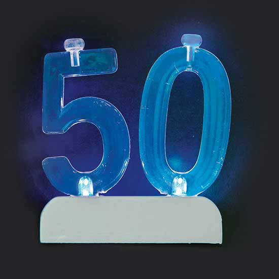 50TH CANDLE (6/CS) PARTY SUPPLIES