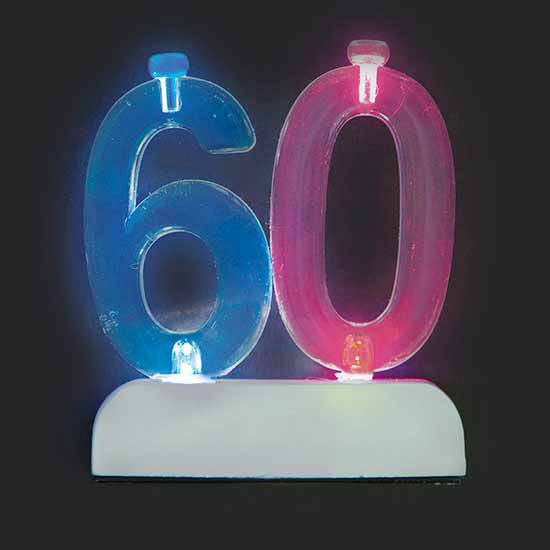 60TH CANDLE (6/CS) PARTY SUPPLIES
