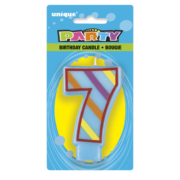 Click for larger picture of 7 FUN CANDLES PARTY SUPPLIES