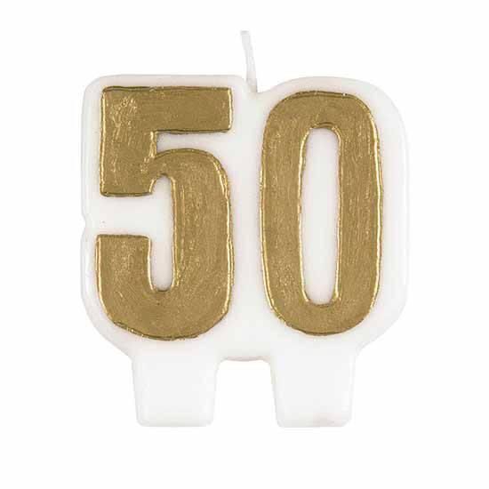 GOLDEN NUMBER CANDLE (300/CS) PARTY SUPPLIES