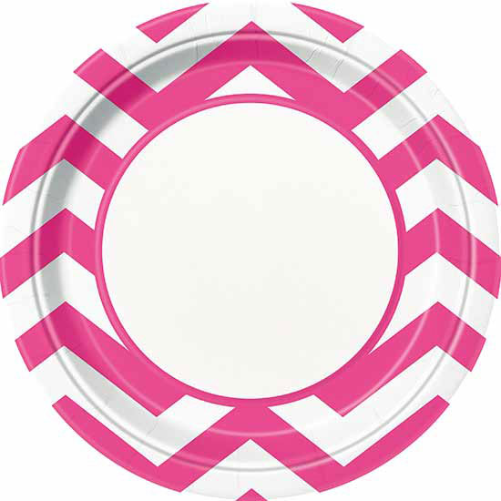 BULK HOT PINK CHEVRON