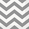 SILVER CHEVRON BEVERAGE NAPKIN PARTY SUPPLIES