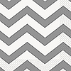 SILVER CHEVRON LUNCHEON NAPKIN PARTY SUPPLIES