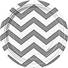 SILVER CHEVRON DESSERT PLATE PARTY SUPPLIES