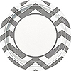 SILVER CHEVRON DINNER PLATE PARTY SUPPLIES