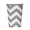 SILVER CHEVRON 12 OZ PAPER CUP PARTY SUPPLIES