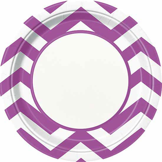 BULK PRETTY PURPLE CHEVRON