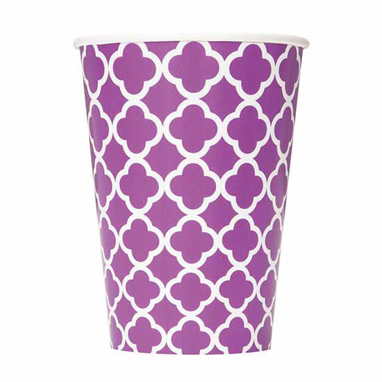 DISCONTINUED PURPLE QUATREFOIL CUP PARTY SUPPLIES