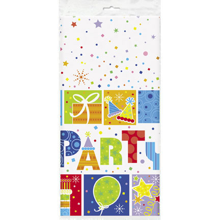 Click for larger picture of PARTY STYLE TABLECOVER PARTY SUPPLIES