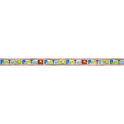 Click for larger picture of DISCONTINUED PARTY STYLE FOIL BANNER PARTY SUPPLIES