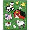 DISCONTINUED FARM FRIENDS STICKERS PARTY SUPPLIES