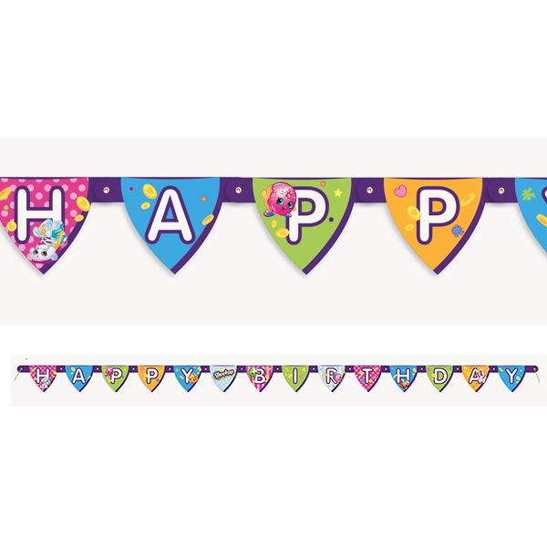 Click for larger picture of SHOPKINS BANNER PARTY SUPPLIES
