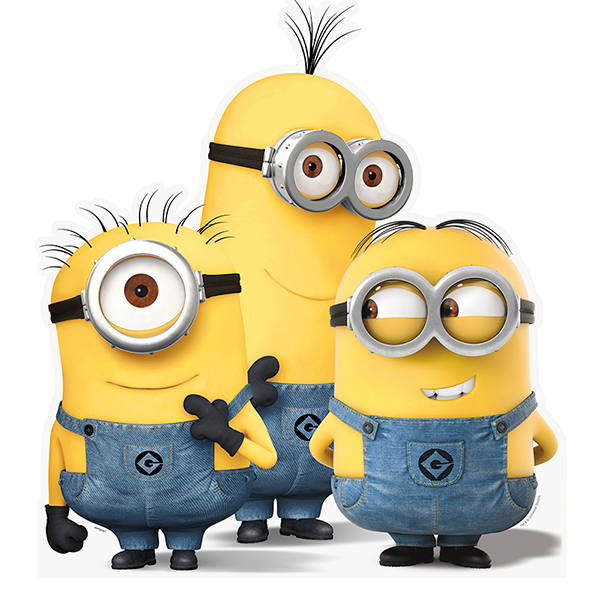 Click for larger picture of LIFE SIZE MINION GROUP (8/CS) PARTY SUPPLIES