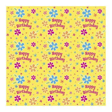 Click for larger picture of DISCONTINUED COLOR ME FLOWER BD GIFTWRAP PARTY SUPPLIES