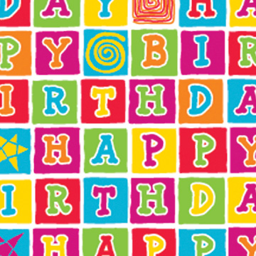 Click for larger picture of BDAY BLOCKS GIFTWRAP 30