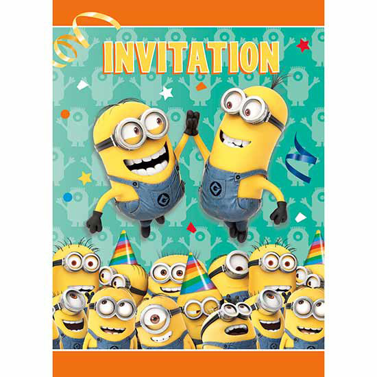 DISCONTINUED DESPICABLE ME INVITE PARTY SUPPLIES